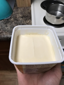 My roommate is very precise with his butter portions Theft is impossible