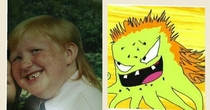 My roommates childhood photo looks like Rusty from Squidbillies