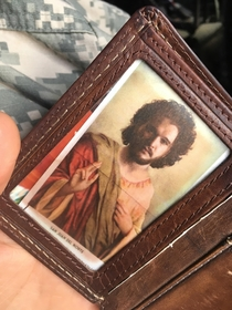 My saint is on my wallet