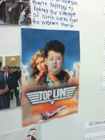 My school had a diversity day and this was on the north korean board