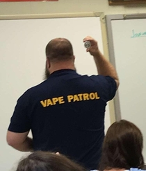 My school is taking the vaping problem a bit too seriously