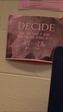 My school might want to take down this motivational poster