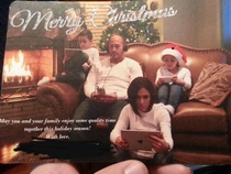 My sister and brother in law killing the Christmas card competition