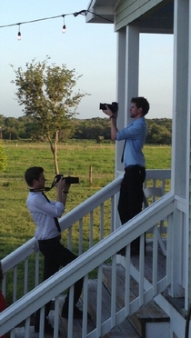 My sister hired twin photographers for her wedding I see sitcom potential