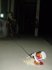 My sister is currently in Afghanistan every year she makes leprechaun traps with her son and daughter This is hers