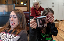 My sister learned a valuable lesson this Christmas If you let your older brother take an ugly picture of you you will get it on a custom color-changing mug as a gag gift Merry Christmas everyone