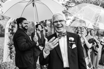 My sisters husband gave my Dad a fake-out handshake at the altar This picture captures the ensuing reactions perfectly