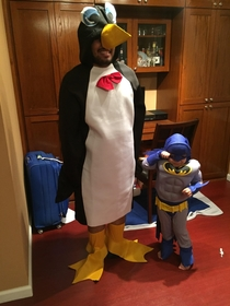 My son wanted to be Batman for Halloween and asked if I could be Penguin with him Naturally I obliged