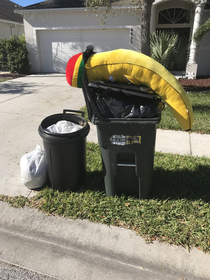 My spirit animal is this defeated Rasta banana we saw while walking the dog
