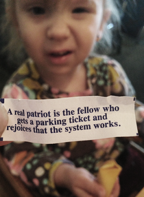 my step-daughter was less than thrilled with her fortune cookie results