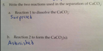 My th grade Chemistry exam responses