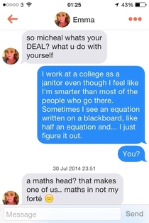 My Tinder match may not have seen Good Will Hunting