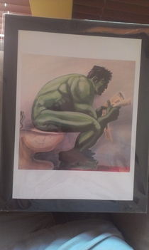 My uncle bought this for me knowing my love for comic books Its done by mentally illhandicapped patients