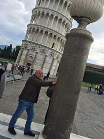 My uncle went to the leaning tower of Pisa not sure he entirely grasped the concept