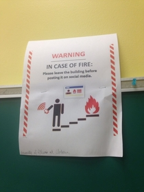 My university has started displaying these notices