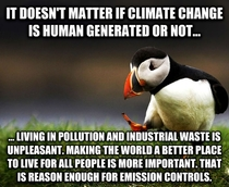 My Unpopular Opinion Puffin on climate change