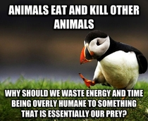 My Vegan-Unfriendly Popular Opinion Puffin