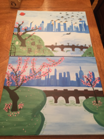 My wife and I also went to paint class