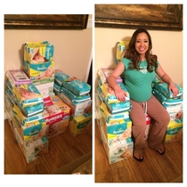 My wife and I had our baby shower today we didnt know what to do with all the diapers we got
