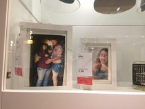 My wife and I went to Ikea today and spotted this Merica family photo inside one of the display picture frames