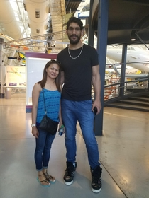 My wife and this guy he plays center for the Dallas Mavericks She is