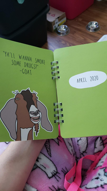 My wife bought our  year old daughter a new planner for school She should have browsed through it before letting her take it to school