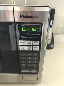 My wife casually mentioned that she forgot to take birth control this weekend then we woke up to this on our microwave this morning