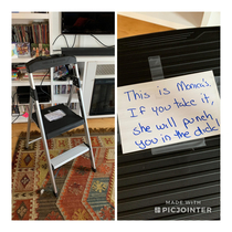 My wife didnt appreciate me borrowing the step ladder for work She bought another one and it now bears a warning