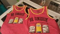 My wife got our daughters matching shirts _