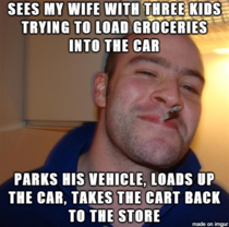 My wife met a Navy officer at the grocery