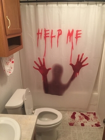 My wife said I could decorate the guest bathroom as my own Multiple screams have ensued