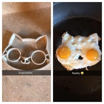 My wife tried to make some cute eggs