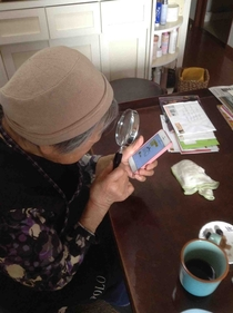 my  year old grandma from Japan showing us how she zooms in with an iPhone