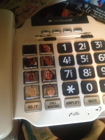 My  year old grandmothers home phone