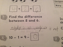 My -year-old son takes his homework directions literally