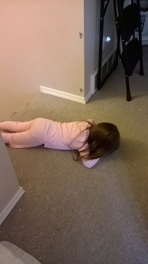 My -year-old still has a long way to go in the world of hide-and-seek