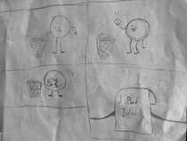 My -year-old wants to start a webcomic Heres his first one