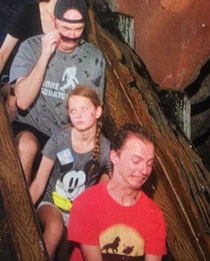 My youngest and oldest on Splash Mountain with me This pic always makes me laugh