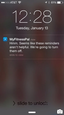 MyFitnessPal just gave up on me