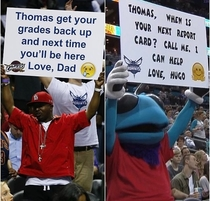 NBA mascot vs Dad