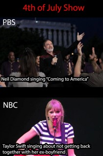NBC vs PBS on the th of July