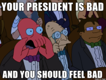 Need a sane president Why not Zoidberg