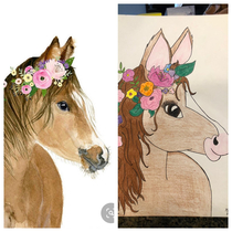 Neighhhbor asked me to draw this for her horse-obsessed daughters room
