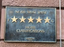 Never trust these Fg hotel classifications