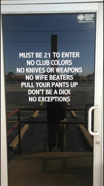 New bar door sign in Florida