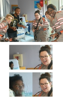 New Ghostbusters cast makes an appearance at a childrens hospital