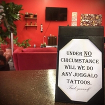 New sign at the Naysayer tattoo shop