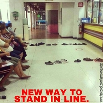New way to stand in line
