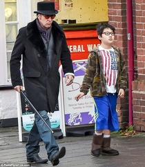 Nic Cage looks like hes shooting a movie even when hes just taking a walk