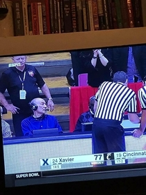 Nice to see Professor X at the Xavier game last night